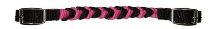 PINK & Black Western Braided Nylon Curb Strap for Horse Bridle New Tack  | eBay