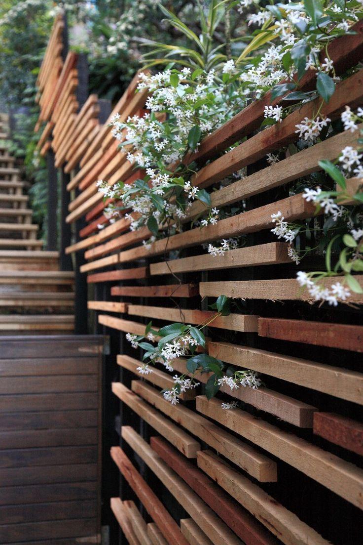 Garden design garden terracing, retaining walls, sub-tropical planting