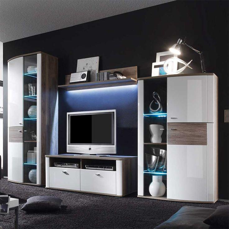 Die besten 25+ Tv schrank weiss Ideen auf Pinterest Tv wand grau - wohnzimmer wohnwand weiß