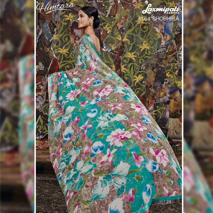 Sophistication and Panache is what you will exude once you own this Floral Printed Saree by Laxmipati. This trendy collection showcases distinct prints and exclusive colour combinations to admire the fashion sense.