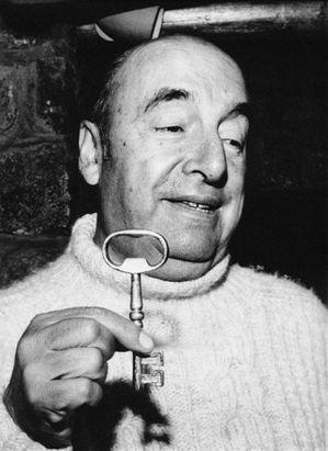Pablo Neruda durante los primeros años de la década de los setenta.