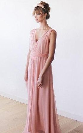 Sleeveless Maxi Sheer Chiffon Dress. Ladies, i think this one would look really pretty next to Anna's....they have all the colors on the website. $78 ain't bad!