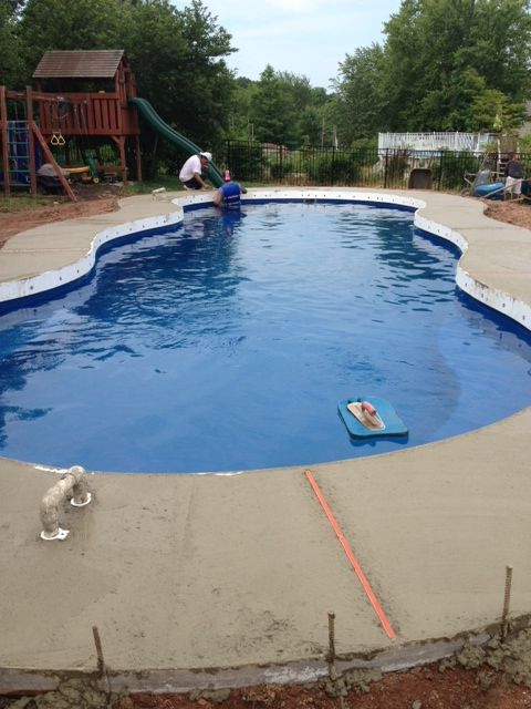 Swimming Pool Expansion : Best fiberglass pool install images on pinterest