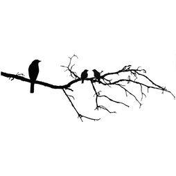 Väggdekor - Fåglar på kvist #3