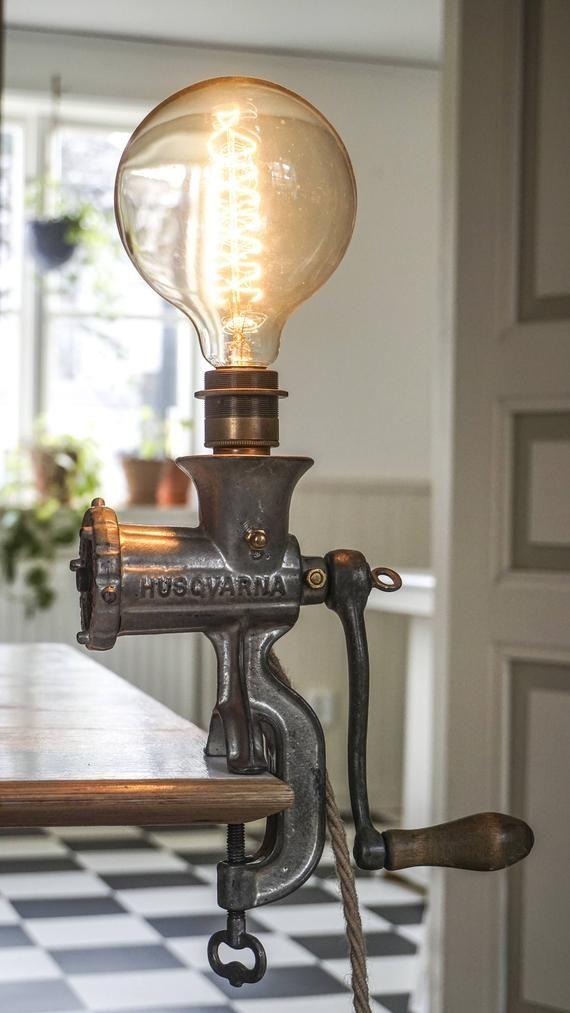 Verbazingwekkend Vintage Meat Grinder Lamp in 2019 | Pallet LOVE.... | Handmade XK-81