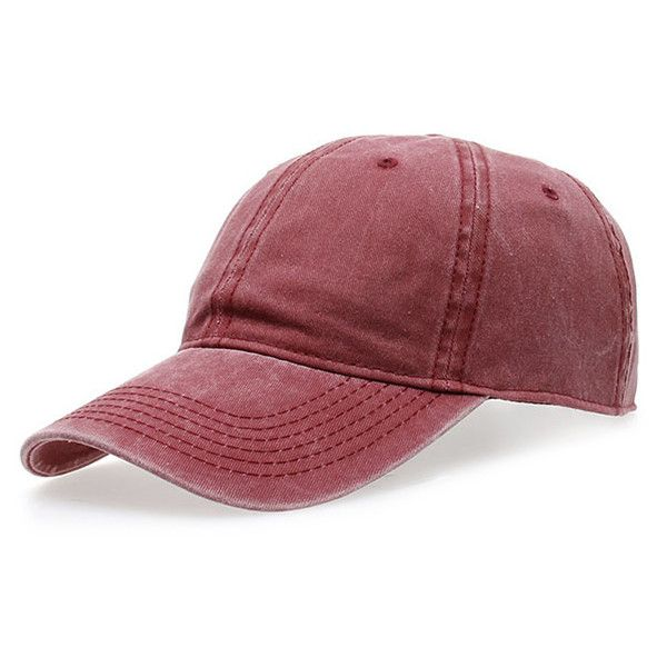 Water Wash Do Old Baseball Hat ($4.90) ❤ liked on Polyvore featuring accessories, hats, ball cap, baseball cap hats, baseball caps, baseball hats and ball cap hats