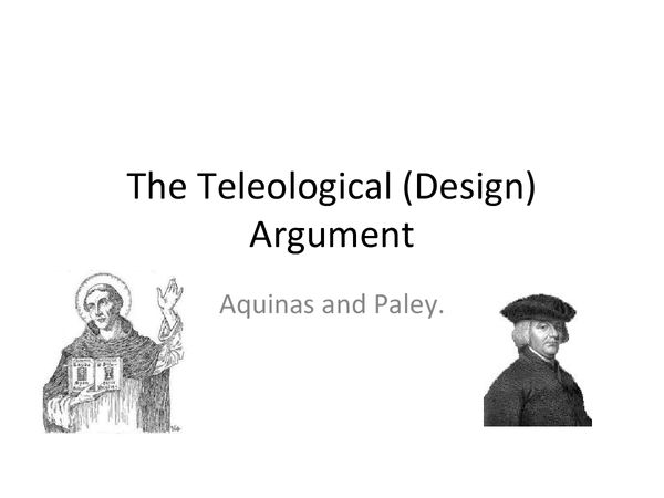 "Argument from Design (Teleological Argument). ""I don't understand natural science, therefore god""."