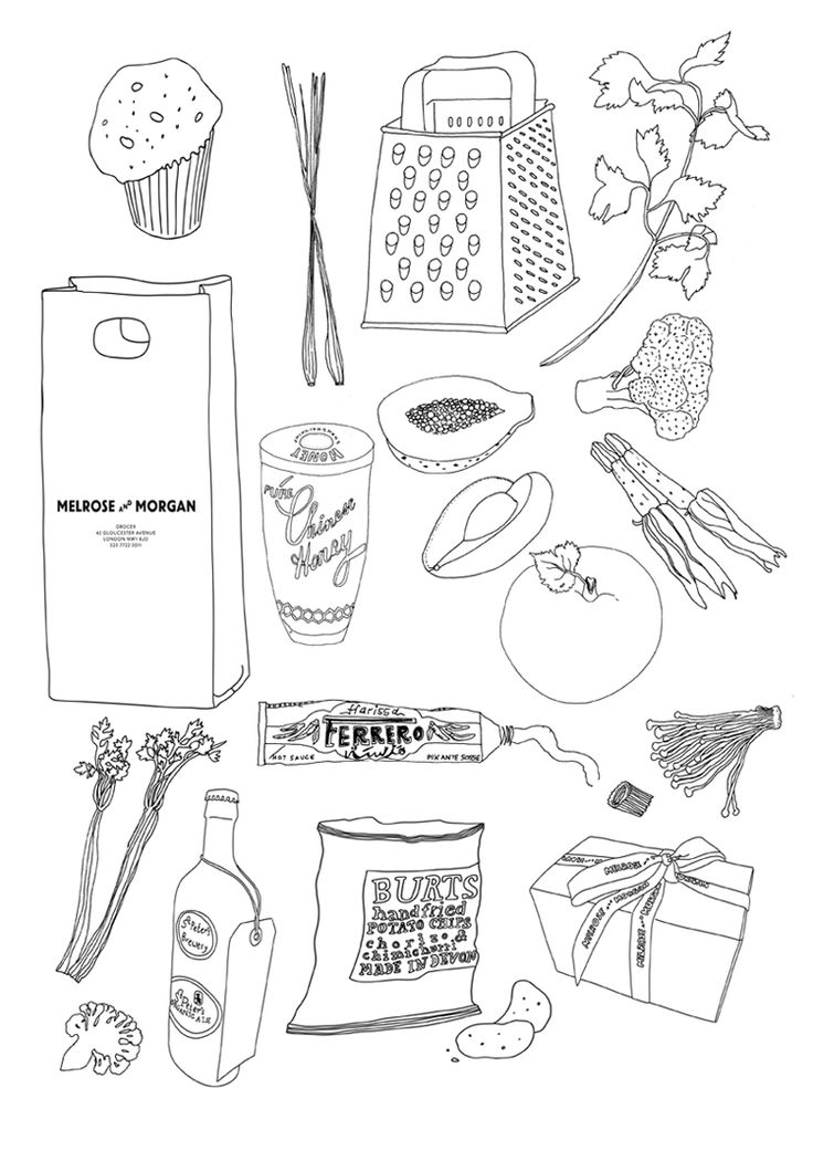 food drawings / nina chakrabarti