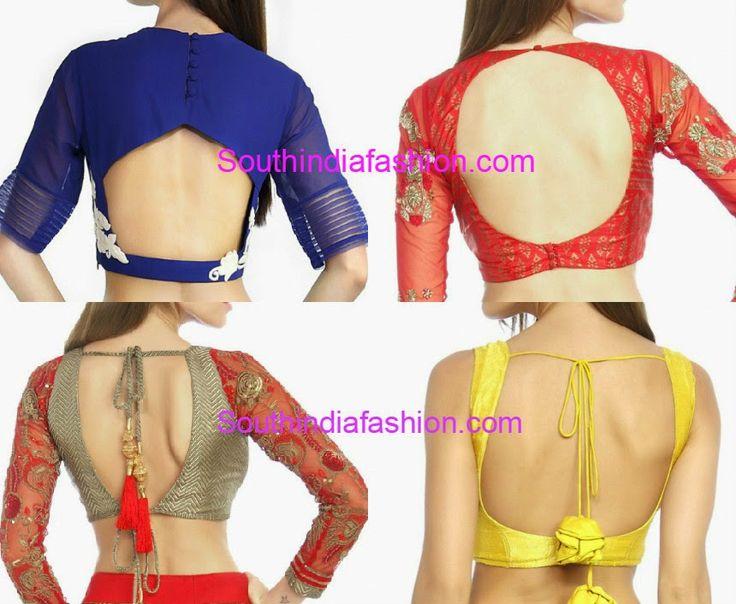 blouse back neck designs 2015