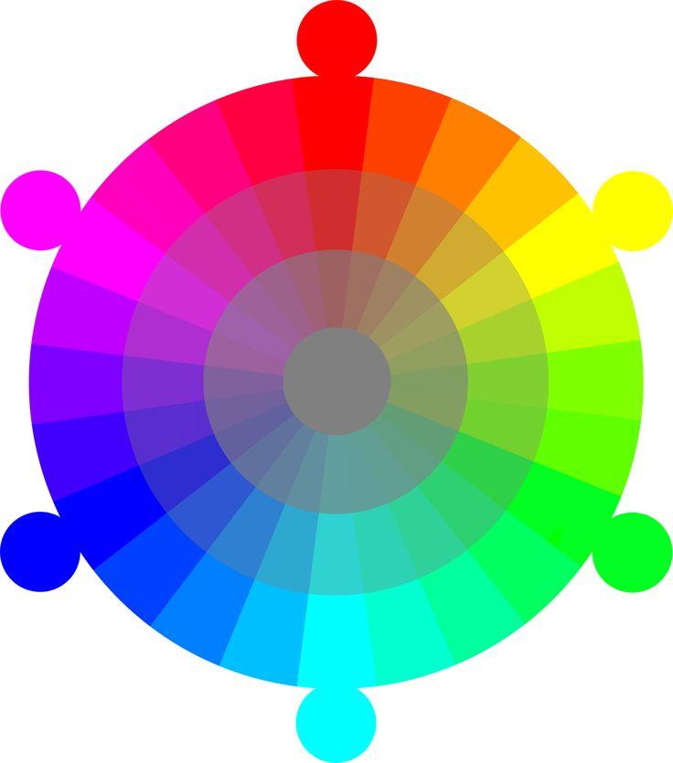 Color Wheel Rgb Cmyk 24 Hour With 2 Tones Color