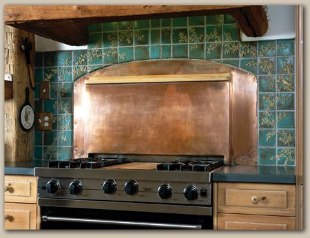 copper kitchen backsplash tiles weaver tile birds animals insects wren nuthatch 5789