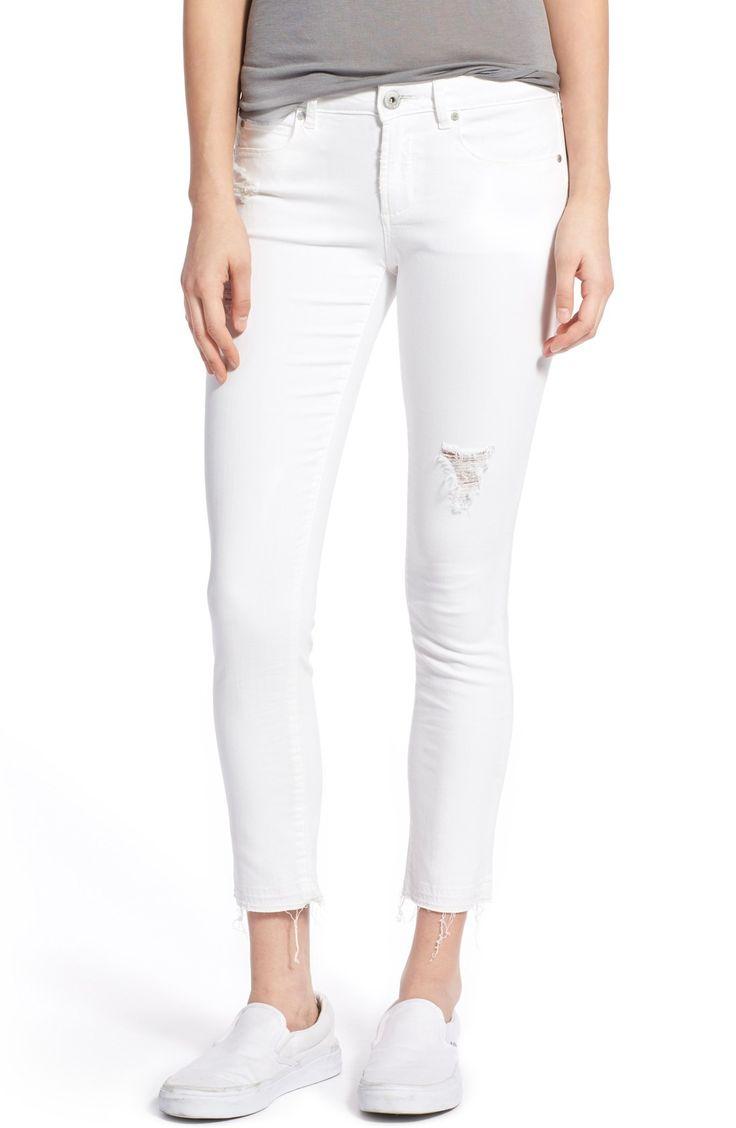 Carly Frayed Hem Cropped Skinny Jeans