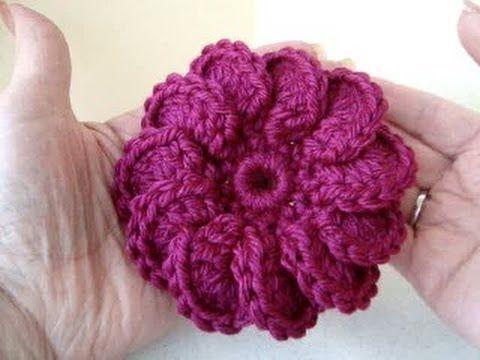 ▶ how to crochet 3 crochet flowers - YouTube