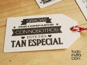 Etiquetas imprimibles para los regalos de tus invitados | Preparar tu boda es facilisimo.com