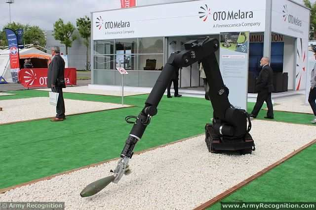 At Eurosatory 2014, Italian Defence Company OTO MELARA presents a full range of unmanned ground platforms which consist of a complete series of robotic platforms starting to the smallest 3 kg 4 wheel-drive TRP 3 to the biggest tracked 300 Kg IEDD/ FDD specialized TRP2 Heavy Duty Special versions for CBRNE Mine -detection, Combat missions are available as well.