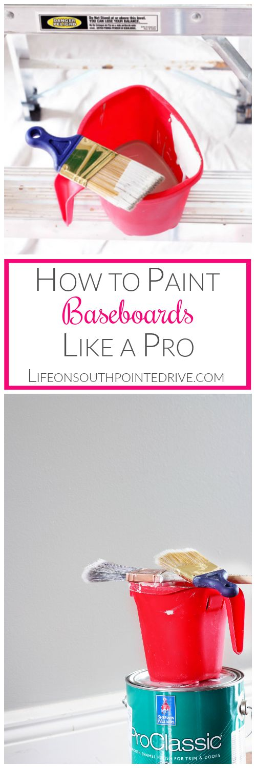 Home DIY - How to Paint Baseboards Like a Pro, --- for post window installation!!