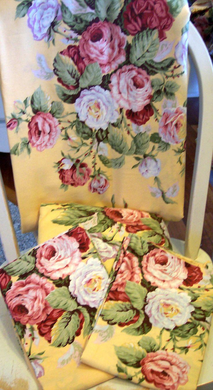 Rare Ralph Lauren Kathleen Floral King Sheet 4pc Sheet Set~therese Euc  Vintage