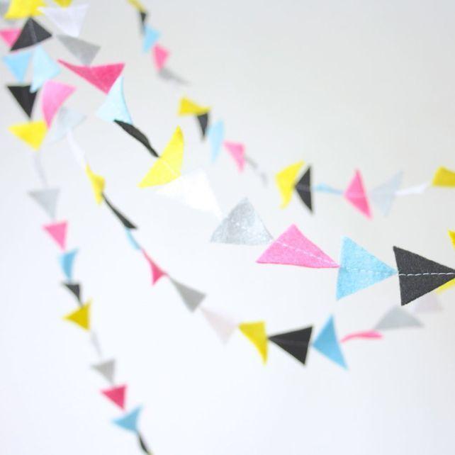 Felt Triangle Garland