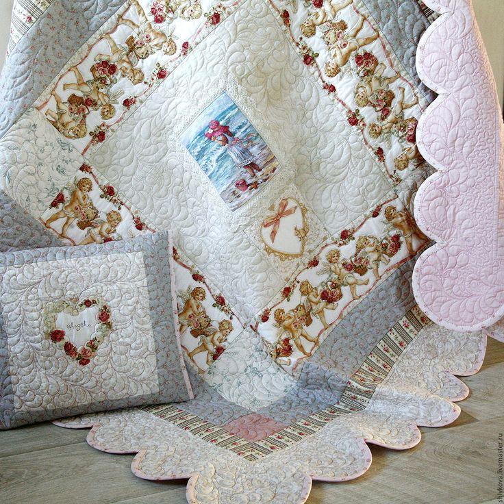 """Купить комплект """"25й ангел"""" - комбинированный, одеяло, одеялко, стеганое одеяло…"""
