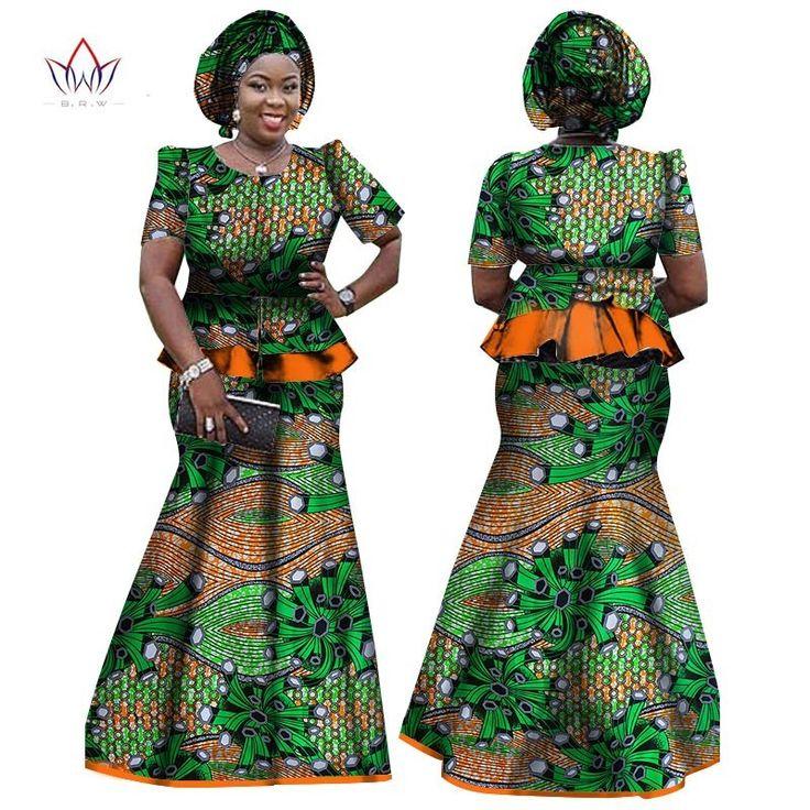 Dasheki African Women Clothing African 2 piece skirt and ...