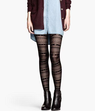 Kuviolliset sukkahousut 7,95 XL