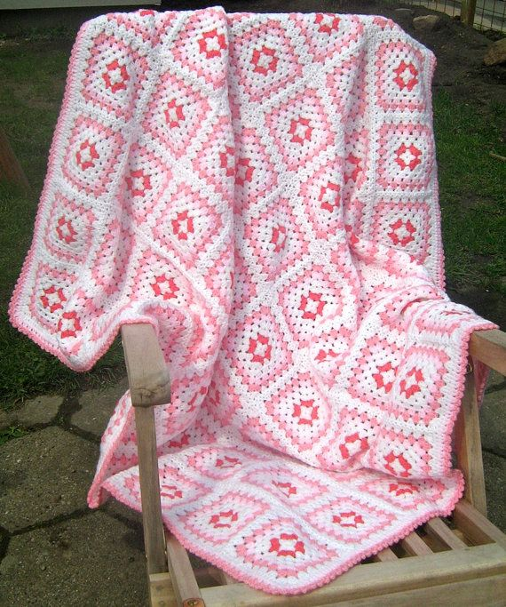 Granny square afghan by turtlemurtle on Etsy, $190.00