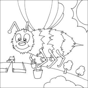 Insects coloring page 17