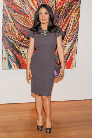 The Week in Style: Salma Hayek at a private dinner at Christie's in New York.