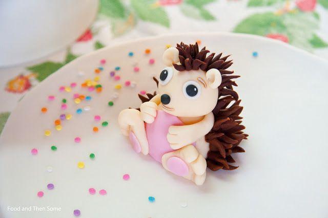 Sugar paste Hedgehog / Siili sokerimassasta