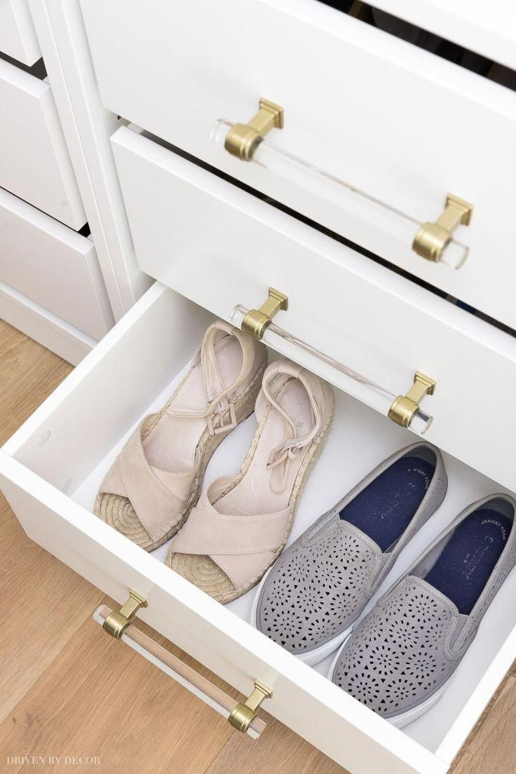 Glass Front Drawer Shoe Storage Omg I Need This Closet Shoe