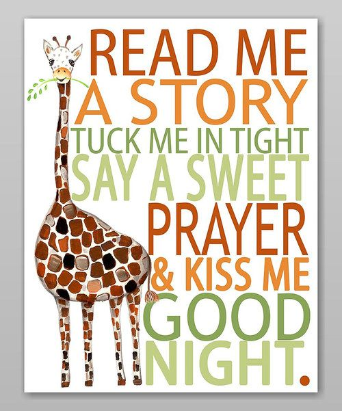Look at this Giraffe 'Read Me a Story' Print on #zulily today!