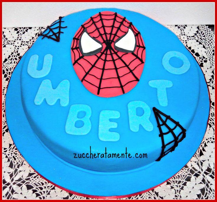 TORTA SPIDERMAN http://zuccheratamente.com/torta-spiderman-2