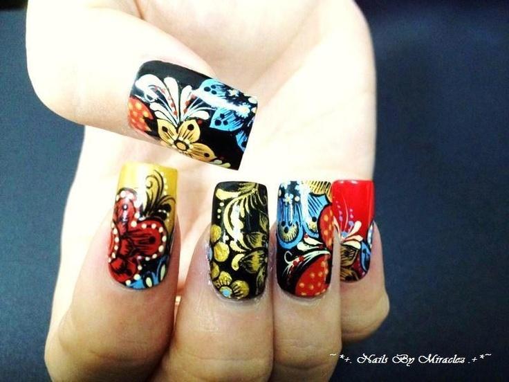 Kimono Abstract - painstakingly drawn: Kimonos Abstract, Nails Art, Painstak Drawn