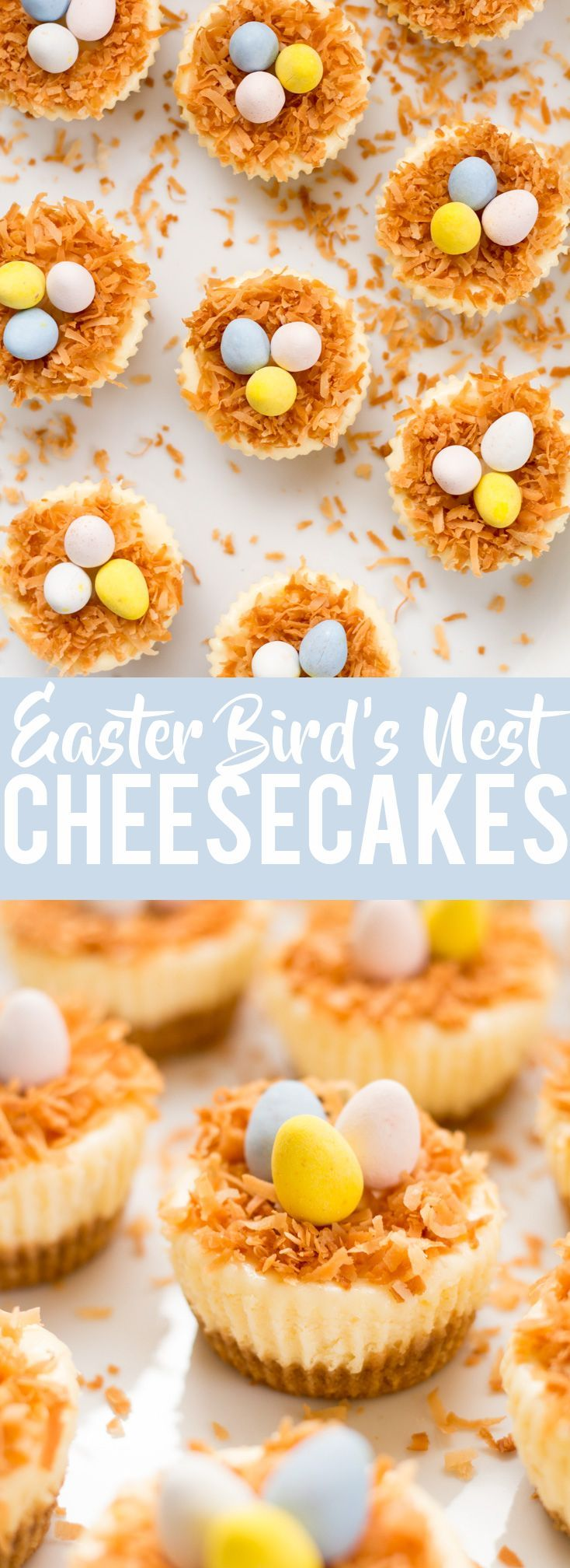 Easter Birds Nest Mini Cheesecakes   Easter Dessert   Cute Dessert   Mini Cheesecakes  mini eggs