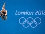 Diver Alicia Blagg of Great Britain in training