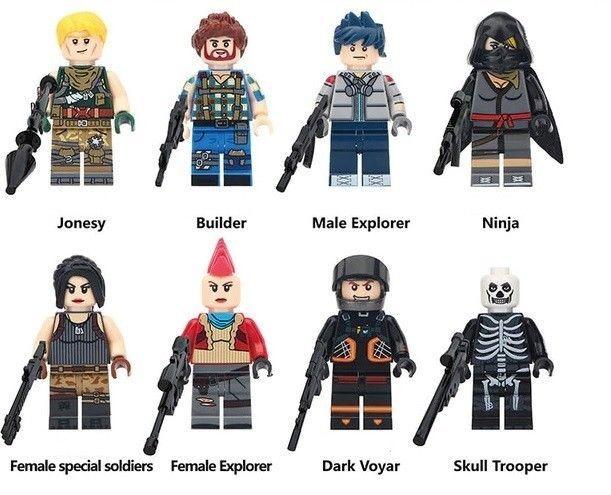8 Pcs set STAR WARS CUSTOM MINI FIGURES BUILDING BLOCK TOYS Fit Lego