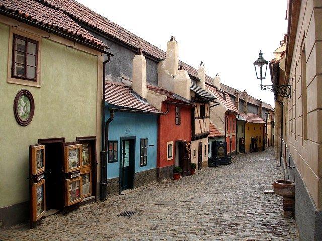 Golden Lane within the Prague Castle complex.