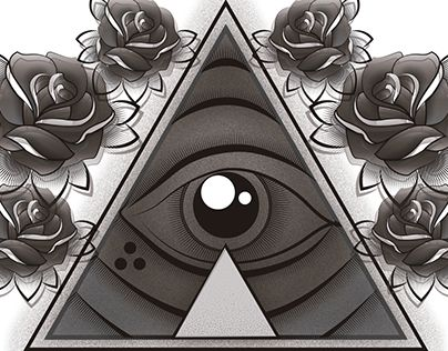 """Check out new work on my @Behance portfolio: """"Roses and eye"""" http://be.net/gallery/45523375/Roses-and-eye"""