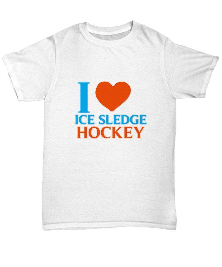 I love I Sledge Hockey Unisex Tee
