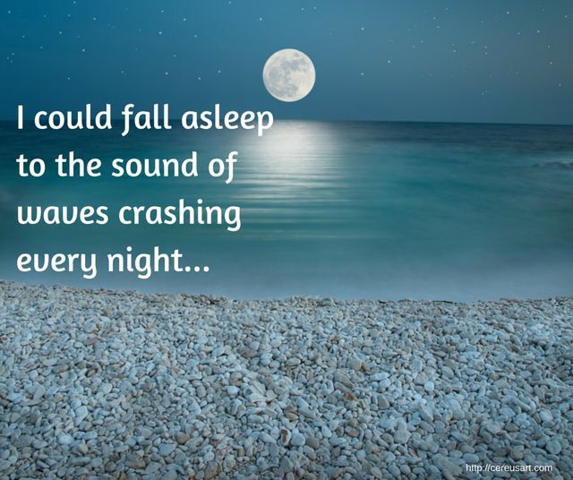 Sleep to the sound of the ocean