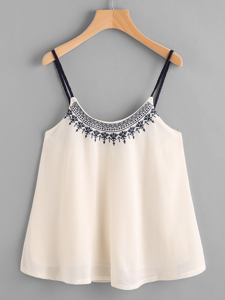 Shop Embroidered Chiffon Cami Top online. SheIn offers Embroidered Chiffon Cami Top & more to fit your fashionable needs.