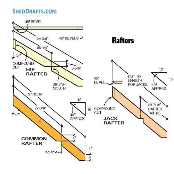 10 12 Hip Roof Storage Shed Dormer Plans Blueprints To Assemble Potting Shed In 2020 Roof Storage Hip Roof Shed Dormer