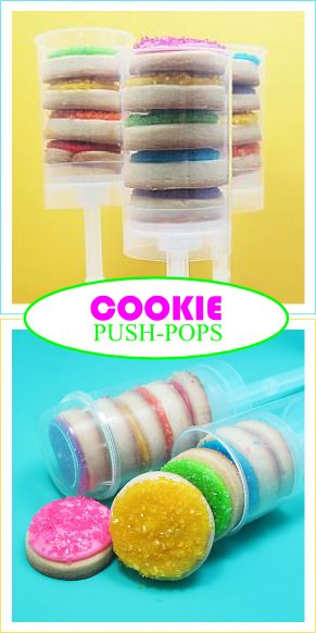 Cookie push pops
