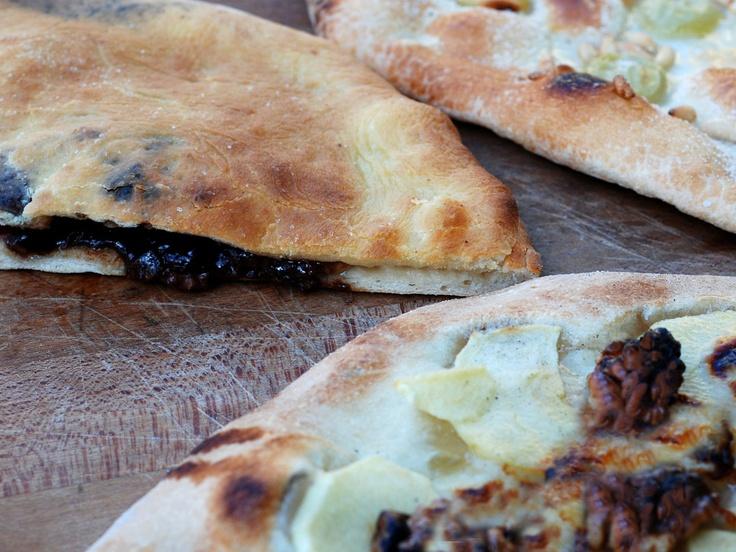 David Rocco's Dessert Pizzas Grape and Pine Nut, Apple and Gorgonzola ...