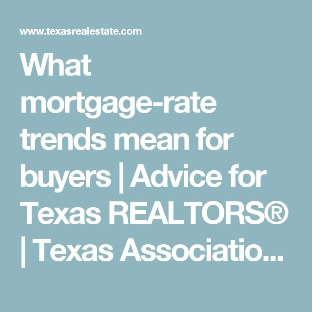 What mortgage-rate trends mean for buyers | Advice for Texas REALTORS® | Texas Association of REALTORS