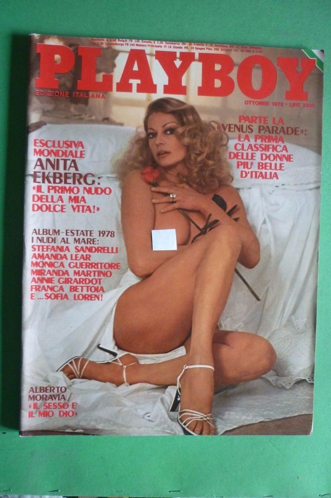 Playboy Ottobre 1978 Anita Ekberg Patrick Depailler F Dunaway Eleonora Vallone