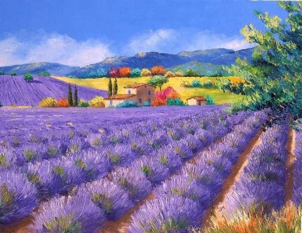 La bastide des lavandes - Jean-Marc JANIACZYK, South France paintings  Mischievous Spring