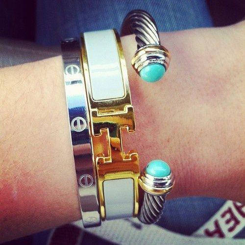 Hermes bracelet and David Yurman