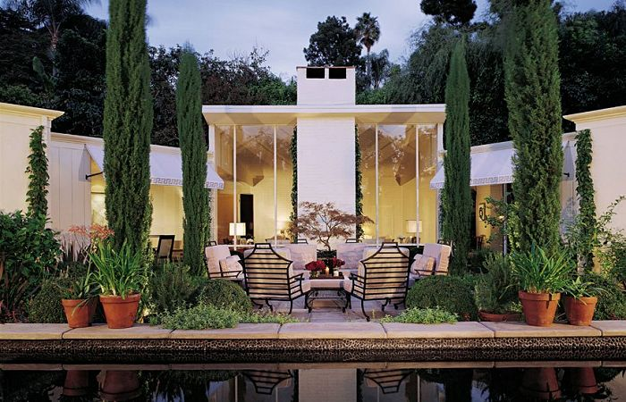 Gardens: Hollywood Hills, Architectural Digest, Pools Decks, Gardens Design Ideas, Living Room, Greg Jordans, Hollywood Regency, Outdoor Spaces, Architecture Digest
