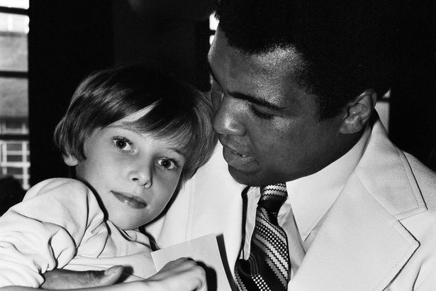 Muhammad Ali presented a Sunshine coach on the behalf of the Variety club of Great Britain